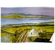 Cottage in Ireland (13 x 8 inches) Poster