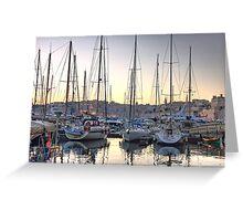 Sundown at the Marina Greeting Card