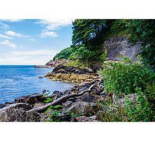 The Beautiful Wild Side of Babbacombe Bay, Devon, England Photographic Print
