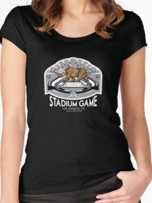 2014 LA Stadium Game T-Shirt (White Text) Women's Fitted Scoop T-Shirt