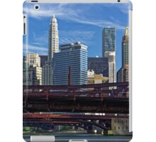 Chicago river cruise view towards  Dearborn Street Bridge iPad Case/Skin