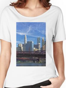 Chicago river cruise view towards  Dearborn Street Bridge Women's Relaxed Fit T-Shirt