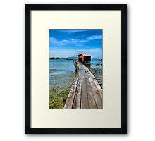 clan jetty  Framed Print