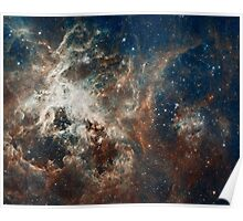 Hubble Space Telescope Print 0004 - Hubble's Panoramic View of a Turbulent Star-making Region - hs-2012-01-a-full_jpg Poster