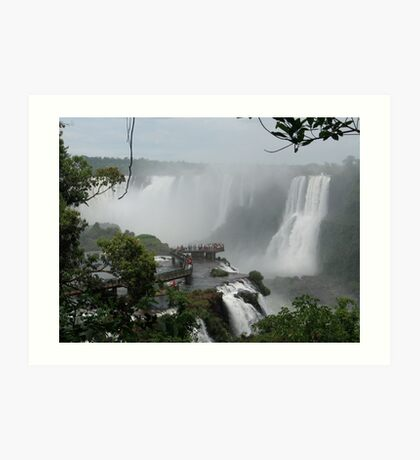 Iguazu Falls  South America Art Print