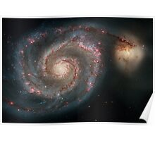 Hubble Space Telescope Print 0005 - Out of This Whirl - the Whirlpool Galaxy (M51) and Companion Galaxy - hs-2005-12-a-full_jpg Poster