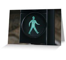 Green Man - Walk Greeting Card