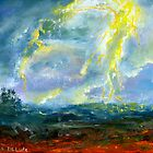 Fine Art Landscape: Impression of Lightning in Abstract by Lenora