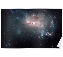 Hubble Space Telescope Print 0006 - Stellar Fireworks Are Ablaze in Galaxy NGC 4449  - hs-2007-26-a-full_jpg Poster