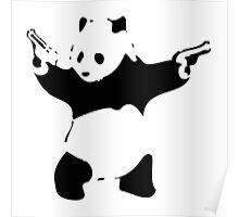 Panda Print Banksy Poster