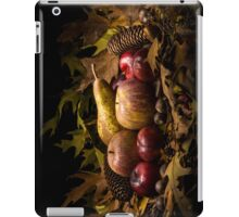 Autumnal still life composition with apples, pear and prunes iPad Case/Skin