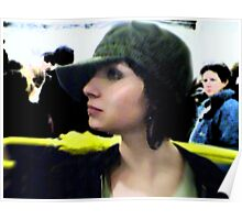 Yellow Umbrella Poster