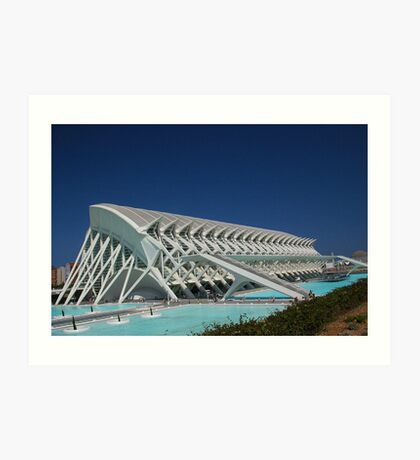 Science building in Valencia. Art Print