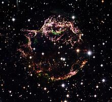 Hubble Space Telescope Print 0008 - Supernova Remnant Cassiopeia A - March 2004  - hs-2006-30-b-full_jpg by wetdryvac