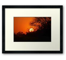 """MY AFRICAN SUNSET """"TODAY"""" Framed Print"""