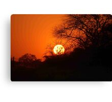 """MY AFRICAN SUNSET """"TODAY"""" Canvas Print"""