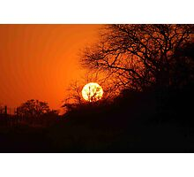 """MY AFRICAN SUNSET """"TODAY"""" Photographic Print"""