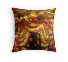 """""""loops in time"""" Throw Pillow"""