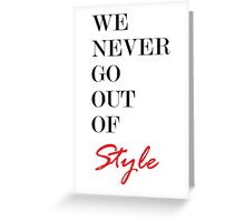 Style Greeting Card