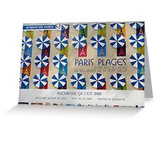 Paris Plage Advertisement Hoarding Greeting Card
