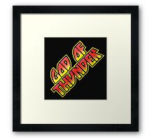 God Of Thunder Framed Print