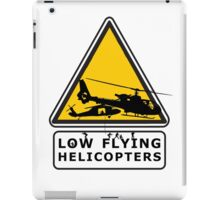 Low Flying Helicopters (2) iPad Case/Skin