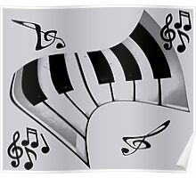 Piano and Notes Poster
