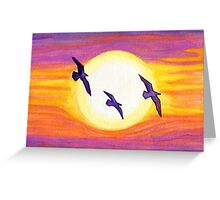 Seagulls Flying Over Flagler Beach Greeting Card