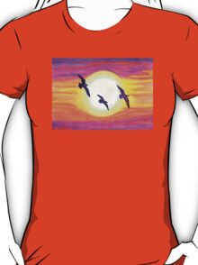 Seagulls Flying Over Flagler Beach T-Shirt