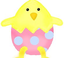Cute Easter Chick in Egg by BeachBumFamily