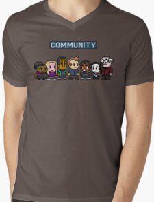 Community - 8Bit Mens V-Neck T-Shirt