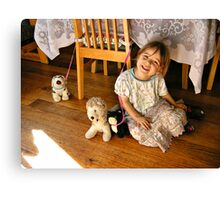 Smile for the camera #2 Canvas Print