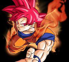 Super Saiyan God Goku by Timanator3000