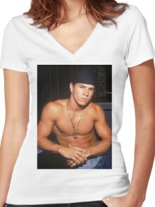 Marky Mark Women's Fitted V-Neck T-Shirt