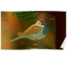 CHIRPING SPARROW Poster