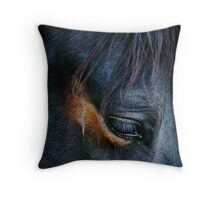 Equine Abstract Throw Pillow