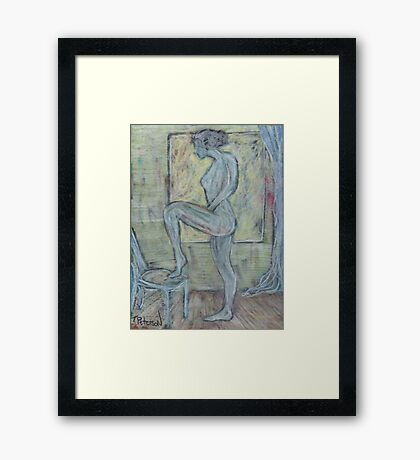 Figure With Chair Framed Print