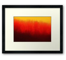 Burnt Fog Framed Print
