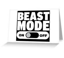 Beast Mode On Greeting Card