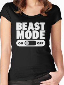 Beast Mode On Women's Fitted Scoop T-Shirt