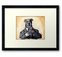 Fixing His Tie Framed Print
