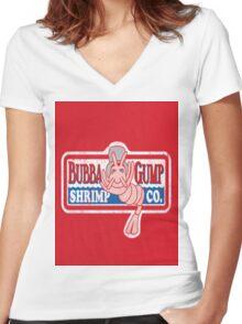 Bubba-Gump Shrimp Women's Fitted V-Neck T-Shirt