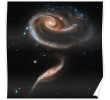 Hubble Space Telescope Print 0016 - A  Rose  Made of Galaxies Highlights Hubble's 21st Anniversary - hs-2011-11-a-full_jpg Poster