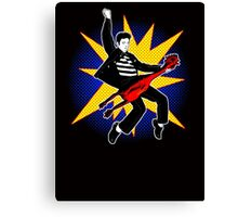 Even playing a rubber chicken I kick The Beatles' asses Canvas Print