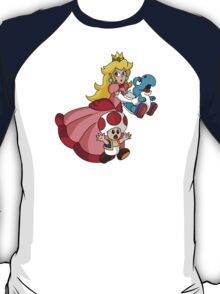 """Super Princess Peach's Yoshi Rescue!"" T-Shirt"