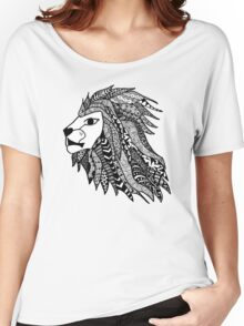 Hipster Lion Head Zentangle Women's Relaxed Fit T-Shirt
