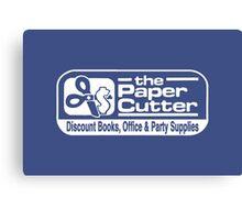 the Paper Cutter Blue Canvas Print