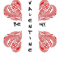 Be My Valentine Red and Black by Heatherian