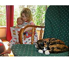 """""""Me and My Doll"""" #2 Photographic Print"""