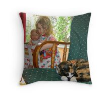 """Me and My Doll"" #2 Throw Pillow"